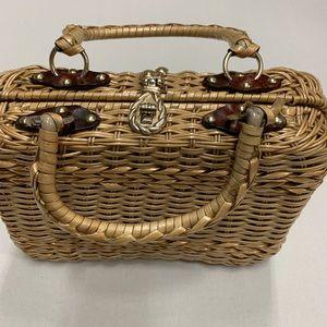 True vintage wicker handbag